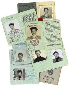 my passport is always ready to go and is full of stamps (katharine hepburn passport lot)
