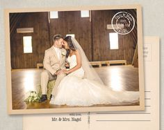 Wedding Thank You Photo Postcards Postcard by SAEdesignstudio, vintage, country, rustic, western, shabby chic $0.55