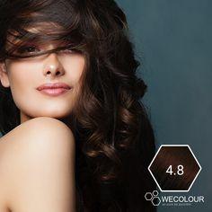 Wil je een prachtige, donkere kastanjebruine kleur? Maar dan wel een zonder ammoniak en die niet op dieren is getest? Probeer WECOLOUR kastanjebruin 4.8. Mooi geverfd haar met mildere ingrediënten. Hair, Fashion, Moda, Fashion Styles, Fashion Illustrations, Strengthen Hair