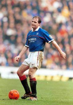 Paul Gascoigne of Rangers in Rangers Football, Rangers Fc, Football Soccer, Football Pictures, Great Team, Glasgow, Hero, Club, Running