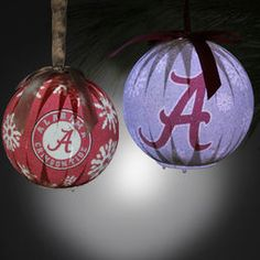 Alabama Crimson Tide 6-Piece LED Boxed Ornament Set