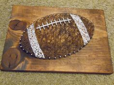 Football Sting Art, Boys Room Decor, Football Wall Decor, String Art Football, Sports String Art, Sports Wall Hanging, Sports String design by kreationsbykac on Etsy https://www.etsy.com/listing/469402021/football-sting-art-boys-room-decor