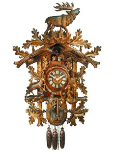 Carved Cuckoo Clocks Cuckoo Clock 8-day-movement Carved-Style 90cm by August Schwer