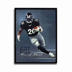 Pittsburgh Steelers LeVeon Bell Man of Steel 24x18 Football Poster