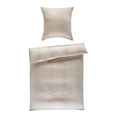 Wir wünschen süße Träume! Diese Bettwäsche in Sandfarben setzt chice Akzente in deinem Bett.