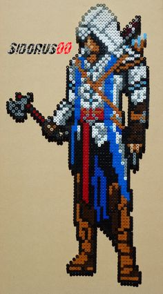 Assassin's Creed :Connor Kenway hama perler beads by Sidorus00