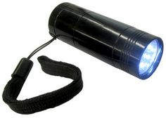6 LED Pocket Flashlight, uses 1 CR123 Lithium Battery, included www.BatteriesAndButter.com