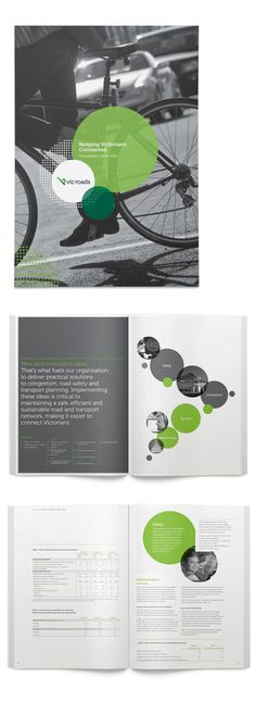 VicRoads AR graphic design inspiration - photo + design - image distribution - geometric - circles - black and white - minimal info - steps - features - clipping mask - cover Layout Design, Design De Configuration, Web Design, Graphic Design Layouts, Print Layout, Circle Graphic Design, Design Posters, Design Color, Print Design