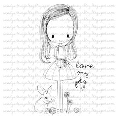 Love My Pets by alldressedupstamps on Etsy, £2.50