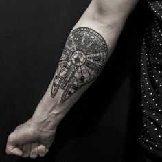 Tattoo Filter — Millenium Falcon tattoo on the forearm. Tattoo...