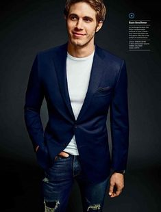 Blake Jenner Shows How to Wear the Navy Blazer for Mens Fitness