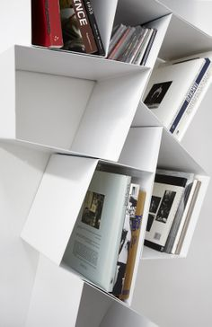 Wu Su Line, #modular floating #bookcase #etimodesign #diegocollareda (detail). Ronda Design.