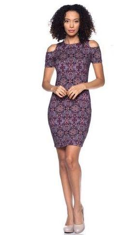 Purple Open Shoulder Dress Boutique Clothing, Fashion Boutique, Spandex Material, Fashion Forward, Perfect Fit, Vibrant Colors, Shoulder Dress, High Neck Dress, Bodycon Dress