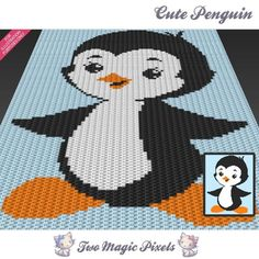 Looking for your next project? You're going to love Cute Penguin C2C Graph by designer TwoMagicPixels.