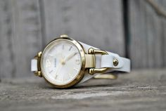 Free Shipping -Fossil Georgia 8mm Handmade White Leather Watch Strap- available on order, more colors by ChristianStraps on Etsy Watch Model, Watches, White Leather, Fossil, Calves, Georgia, Take That, Free Shipping, Handmade