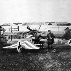 Jasta 15 pilot Lt Hans Muller with his Fokker Dr1 Triplane, February 1918. By the end of the war he had achieved 12 victories, and lived till 1964.