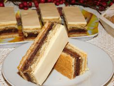 Gerdi süti: Rózsa szelet Sweet Cookies, Tiramisu, Sandwiches, Cheesecake, Dessert Recipes, Food And Drink, Yummy Food, Sweets, Baking
