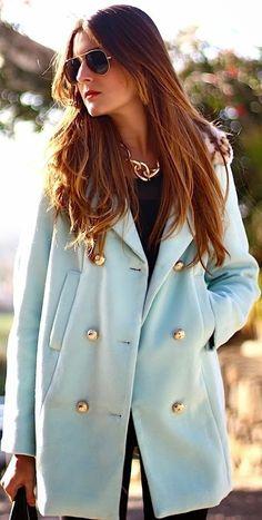Baby #Blue #Coat by Marilyn's Closet