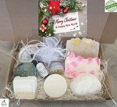 Christmas Spa Gift Handmade Cosmetics, Handmade Soaps, Vegan Deodorant, Organic Bar Soap, Anniversary Favors, Coconut Soap, Merry Happy, Vegan Gifts, Birthday Gifts For Girlfriend