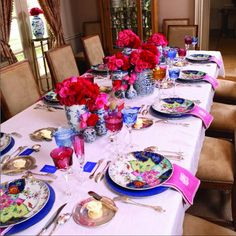 Kimberly Schlegel Whitman: Tablescape Tuesday: Baby Shower in Blue and Pink