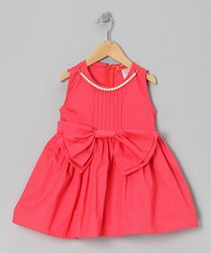 http://www.zulily.com/invite/vhanson979Take a look at this Coral Bow Pearl Tunic - Toddler & Girls by Funkyberry on #zulily today!