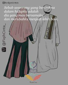 Kau mungkin tak selalu bisa melihat bagaimana aku merapikan sebuah nama yang… Muslim Quotes, Islamic Quotes, Short Quotes Love, Never Getting Married, Cute Couple Cartoon, Anime Muslim, Hijab Cartoon, Love In Islam, Making Love