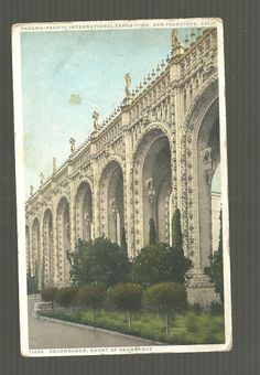 Colonnades Court of Abundance Panama Pacific Exposition California 1915 Postcard