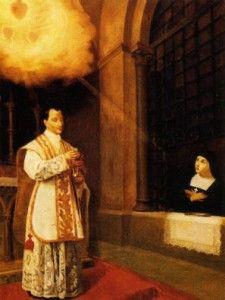Padre São Cláudio de La Colombière e Santa Margarida Maria Alacoque.