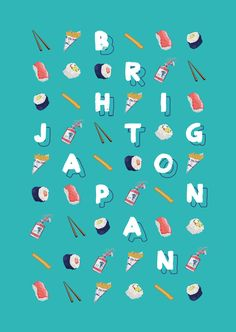 Brighton/Japan by Pablo Álvarez , via Behance