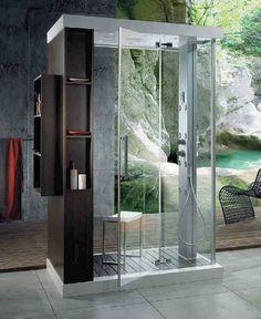 Anthropos Steam Shower Cabin by Glass Idromassaggio