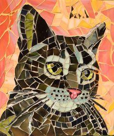 """Saatchi Art Artist: Anne Bedel; mosaic 2014 Installation """"mosaic cat"""""""