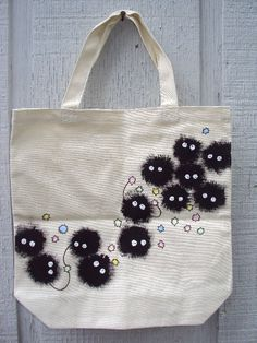 SALE Miyazaki Soot Sprites tote bag by TheFlyingCorgi on Etsy, $40.00