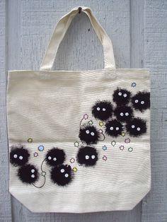 Miyazaki Soot Sprites tote bag. $30.00, via Etsy.