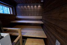 Yksinkertainen on kaunista ja kestävää. Saunas, Room Ideas Bedroom, Home And Living, Stairs, Backyard, Home Decor, Bathrooms, Google, Image