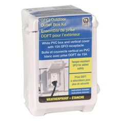 REDDOT 18 cu in Outdoor PVC Weatherproof Box Kit with GFCI Receptacle and Vertical Mount Cover