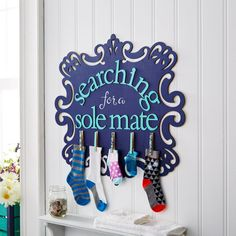 Keep an eye out for your perfect match with this punny laundry room helper.