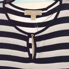 New Michael Kors strips shirt $90 originally Bundle up and save Michael Kors Tops Tees - Short Sleeve