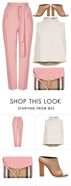 """""""street style"""" by ecem1 ❤ liked on Polyvore featuring Topshop, TIBI and Burberry"""