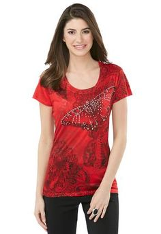 Cato Fashions Butterfly Studded Tee #CatoFashions
