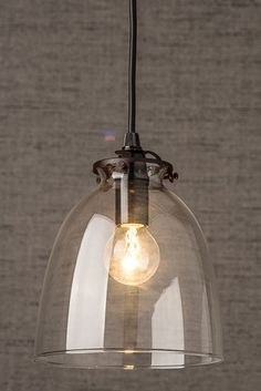 Duo Walled Pendant, 3 Light, Black Oxide/Clear | Pendants, Kitchens And  Lights