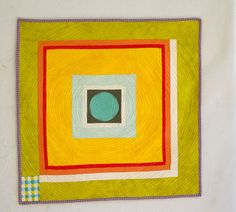 Circle in the hole mini quilt   Flickr - Photo Sharing!