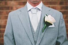 Grooms buttonhole.