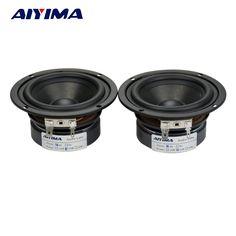 AIYIMA 2Pcs 3Inch Tweeters Full Range Speakers 4Ohm 15W Audio Portable Hifi Speaker #Affiliate