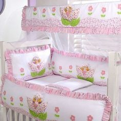 Baby Crib Bedding, Baby Pillows, Baby Bedroom, Bedding Sets, Baby Drawer, Baby Girl Clipart, Princess Bedrooms, Kit Bebe, Baby Doll Accessories