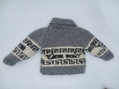 Ravelry: Northern Whale Cowichan Sweater- Toddler's Cardigan pattern by Kristen Cooper Knitting For Kids, Baby Knitting Patterns, Free Knitting, Crochet Patterns, Cowichan Sweater, Toddler Cardigan, Baby Sweaters, Knitting Sweaters, Sweater Making
