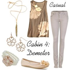 """""""Demeter"""" by ellalea on Polyvore- I don't know if I should pin this on rick riordan or on cute clothes"""