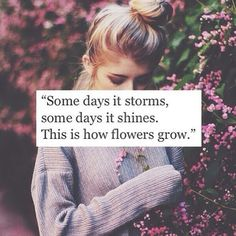 This is how flowers grow... More