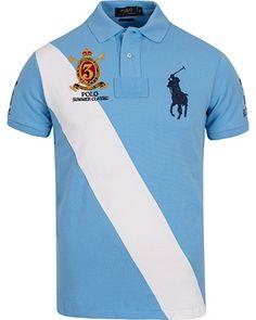Polo Ralph Lauren Blackwatch Diagonal Stripe Polo Chatham Blue i gruppen  Pik� / Kort�rmad Pik� hos