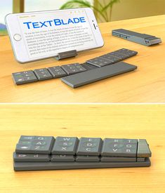 The TextBlade is an entirely new class of touch-typing portable keyboard in a breakthrough futuristic form factor.