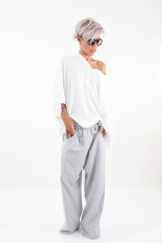 Plus Size Harem Hippie Wide Leg Women Drop Crotch Pants Loose Pants, Wide Leg Pants, Fall Fashion Outfits, Casual Outfits, Celebrity Short Hair, Drop Crotch Pants, Hippie Pants, Pants For Women, Clothes For Women